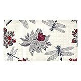 Ameolone Esterilla de flores con diseño de libélulas para bañera