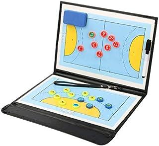 WANGYONGQI Portable Handball Tactique Planche Basketball Planche Tactique Pliable PU Handball Basketball Jeu Conseil Forma...