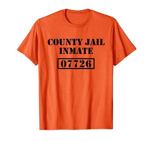 Preso de la cárcel del condado, disfraz de Halloween perezoso, prisión Camiseta