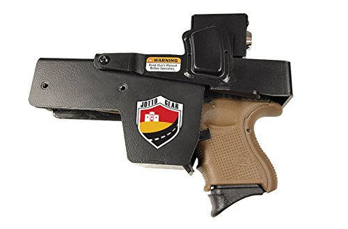Jotto Gear Quick Access, Rugged Steel, Officially Licensed NRA Locking Handgun Holster for Car, Office, Many Locations
