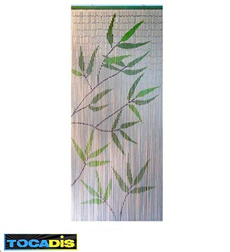 TOCADIS Rideau DE Porte Bambou 5 Colories AUX Choix - 90X200CM (Feuille)