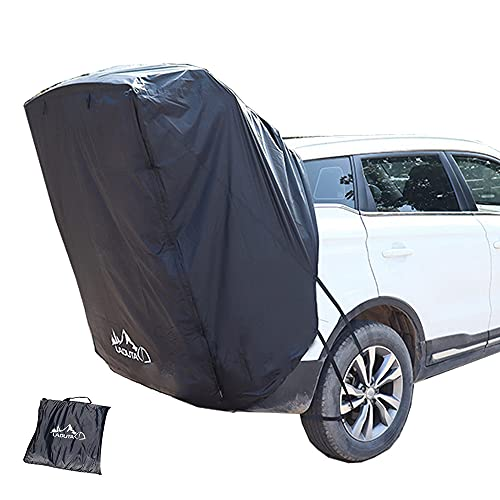 Car Trunk Tent Heckzelt tragbare Markise Campingbus Sonnensegel Regen- und Sonnenschutz Autokofferraum Zelt Autokonto,Seite Konto Zelte Heckklappe,Für SUV (schwarz)