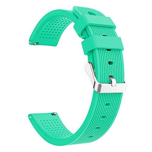 ZXF Correas Reloj Silicona 20mm Reloj Correa Banda Juventud Straps Deporte Silicone Inteligente Reloj Pulsera Pulsera reemplazar Hombre y Mujer (Band Color : Green)