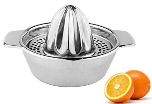 Bayli Presse-agrumes manuel en acier inoxydable - Diamètre : 12,5 cm - Presse-citron avec bac de...