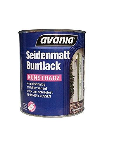 Avania Seidenmatt Buntlack / gelb / 750 ml / Kunstharzlack für Innen und Außen / Malerqualität v. Fachmann für Holz, Putz,Beton, Mauerwerk, Kunststoff,Eisen, Stahl, Metall,Zink, Aluminium, Kupfer