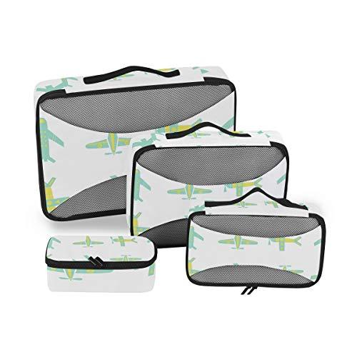 Cubo de embalaje de aviones de dibujos animados DEZIRO 4 piezas organizador de viaje accesorios