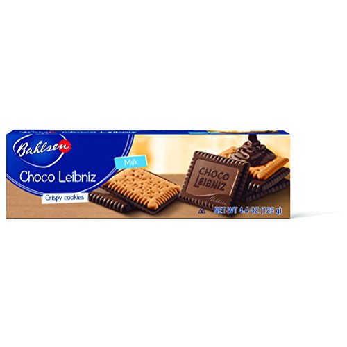 Bahlsen Choco Leibniz Milk Cookies (1 box) - Leibniz Butter Biscuits topped with a thick layer of European Chocolate - 4.4 oz box