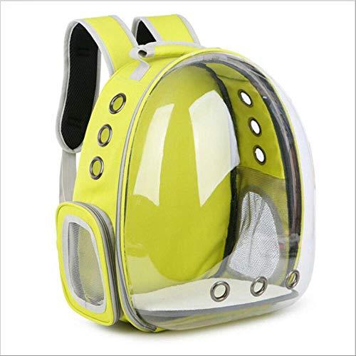 JBPX transportbox voor huisdieren rugzak voor astroniehoes cat dog cute dog cute dog outdoor ademende heuptas, 32x25x42cm, Geel
