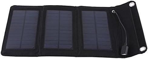 Draagbare opvouwbare milieuvriendelijke zonnelader USBzonnepaneel 5W 5V voor kamperen buiten werken wandelen vissen