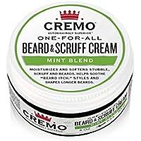 Cremo Mint Blend Beard & Scruff Cream, 4 Oz