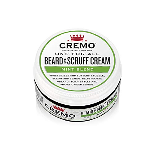 Cremo Mint Blend Beard & Scruff Cream, Moisturizes, Styles and Reduces Beard Itch for All Lengths of Facial Hair, 4 Oz