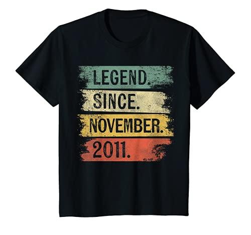 Niños Leyenda desde noviembre de 2011 8 años de edad 8 regalos de cumpleaños Camiseta
