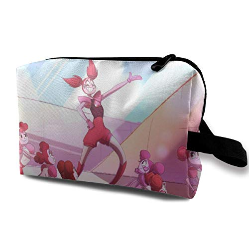 Spinel Travel Makeup Pouch with Wristlet Cosmetic Bags Portable Toiletry Bag with Zipper for Girls Women