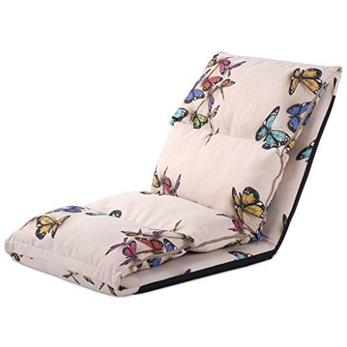 Lazy Sofa Fold Chaise Chambre Salon Tissu Loisirs Fauteuil -LI JING SHOP (Couleur : Butterfly cloth)