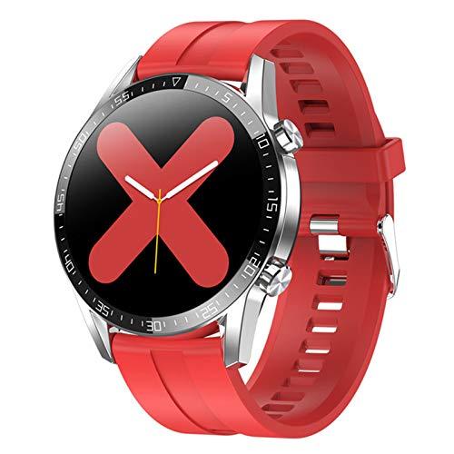 CZX Smartwatch Herren L13C Frauen-Smartwatch MTK2502 1.4 IPS Full Touch Screen-IP68 wasserdichte Puls-Monitor-Anti-verlorene Fitness Tracker,C