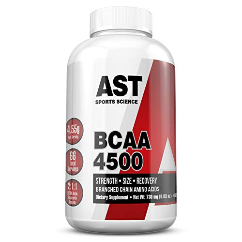 BCAA 4500 - Branched Chain Amino Acids - for Fast Muscle Energy, Growth, Strength and Ultra-Fast Recovery - AST Sports Science (1)