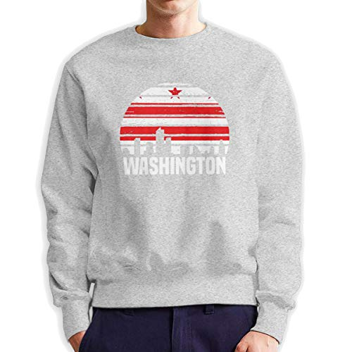 Washington District Columbia Group City Heren Crew Neck Sweatshirt Medium Dikte Trui voor Mannen