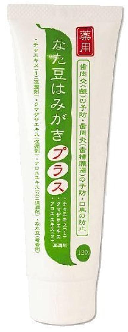 ヒューマニスティック消えるボルト薬用 なた豆はみがきプラス 医薬部外品 120g×2本セット