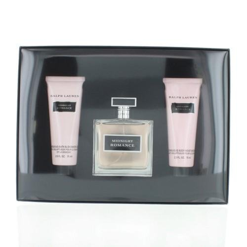 RALPH LAUREN Midnight Romance By Ralph Lauren 3 Piece Gift Set -3.4 Eau De Parfum Spray, 2.5 Body Lotion, 2.5 Shower Gel
