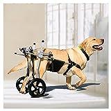 Yclty Silla de Ruedas para Perros Patas Traseras Carro para Perros Grandes Ciclomotor Scooter para Mascota Adecuado para Perro Discapacitado Paralizada Rehabilitación del Caminar Asistido