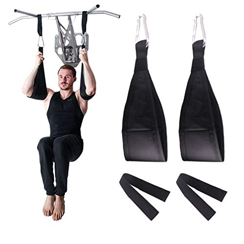 DASKING Fitness Ab Straps, 1 Pair Gym Hanging Sling Straps with Quick Locks for Pull Up Abdominal Training Workout Equipment