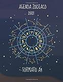 Agenda Zodiaco 2021 Formato A4: Agenda Segni Zodiacali 53 Settimane Riepilogo Mese Calendario Contatti Password