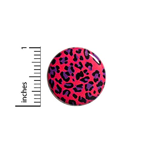 Pink Leopard Button Pin Pretty Cool Rad Animal Print Backpack Pinback 1 Inch 56-25