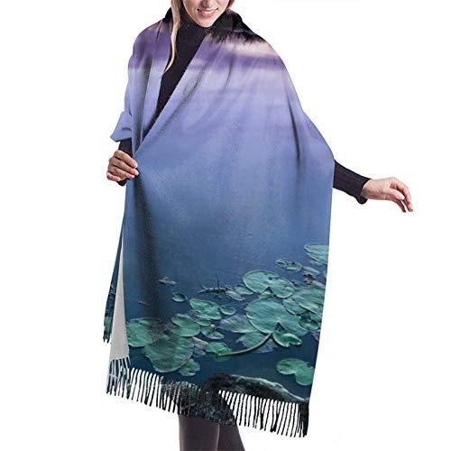 River Water - Chal de pashmina suave para mujer, bufanda de cachemir grande con sensación de cachemira, abrigos cálidos, manta de invie