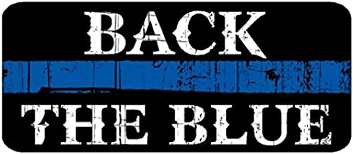 CustomDecal US Back The Blue (D5) Thin Blue Line Cop Police Sheriff Trooper Vinyl Decal Sticker Car Window