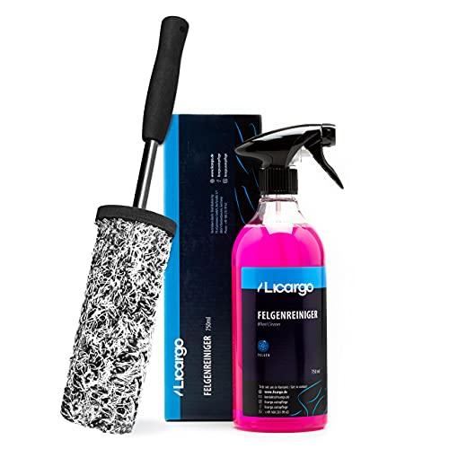 LICARGO® Premium Mikrofaser Felgenbürste & Felgenreiniger (750ml) - für eine effektive Reinigung bis tief ins Felgenbett - Auto Felgenbürste Alufelgen, Felgenreiniger Alufelgen, Wheel Brush