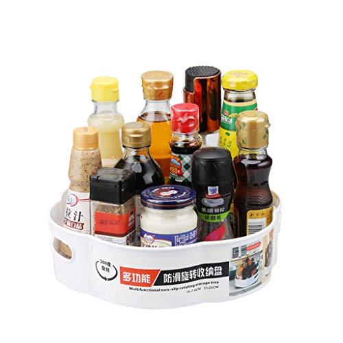 Organizador de Armario Giratorio con Forma de Flor, Almacenamiento de Cocina para Tarros de Especias Botellas, Soporte Giratorio para Condimentos, Estantes de Almacenamiento Antideslizantes (A)