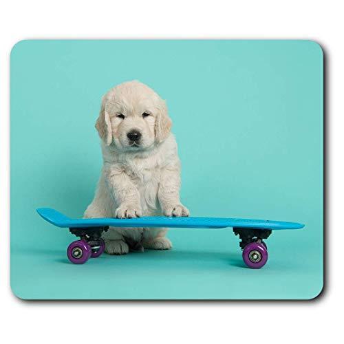 Comfortabele muismat – skateboarding Labrador Puppy Dog voor computer en laptop, kantoor, geschenk, antislip onderkant