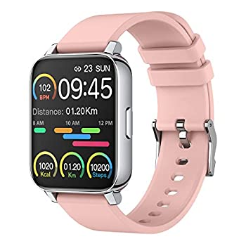 Smart Watch for Women 1.69  Touch Screen Fitness Tracker Watch IP67 Waterproof Smartwatch with Heart Rate and Sleep Monitor Step Counter Sport Running Watch for Android and iOS Pink