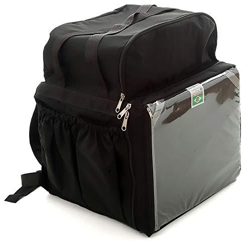 Mochila Bag Térmica Delivery Aplicativos Com Isopor Laminado - Preta