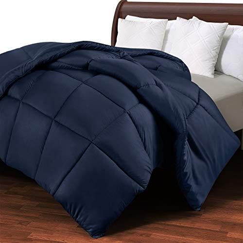 Utopia Bedding Invernale Piumone Piumino Matrimoniale - 100% Microfibra in Fibra Cava (Blu Navy, 230 x 220 cm)
