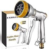 FANHAO Pistola Manguera de Jardín, Viene en 7 estilos,Pistola de riego 100 % resistente de metal, aleación de zinc,...