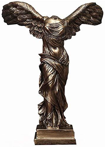 WQQLQX Statue Victoria Göttin Statue Kunst Skulptur Dekoration Figuren Dekoration Zubehör Römischer Flügel Victory Samothrace Crafts Sammlbare Geschenke Skulpturen