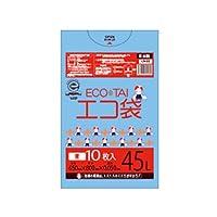 サンキョウプラテック エコ袋 45L 0.050厚 青 10枚入×40冊 LN-66