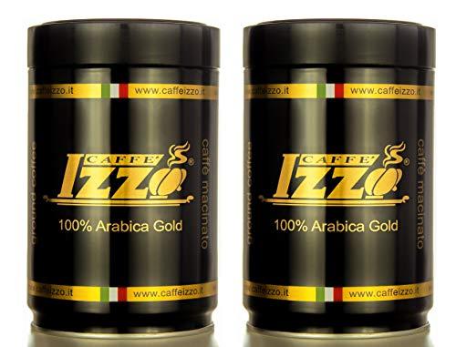 Izzo Espresso 100 % Arabica Gold, gemahlen, 2er Pack, insg. 500 g