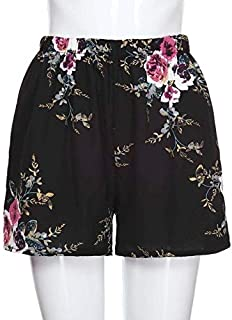 BEESCLOVER Women Print Floral Casual Hot Lady Summer Trousers Hot Sale High Quality 2019 New Patterns Modern Black United States S