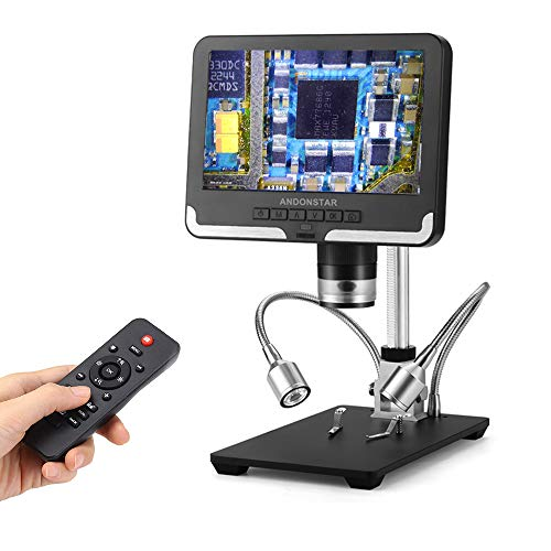 Andonstar Black corlor 7 inch LCD 1080P Circuit Board Digital Microscope AD206 with 200X Magnification Zoom for Phone Repair Soldering