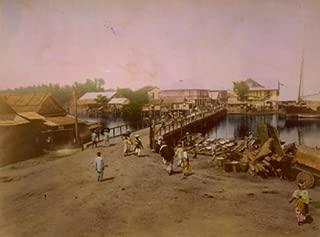 1898-1910? Dagupan SUMMARY: Waterfront scene with bridge in Dagupan, Philippi b1