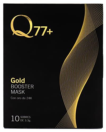 Q77+ GOLD BOOSTER MASK, Mascarilla facial reafirmante con Oro 24K - 10 sobres