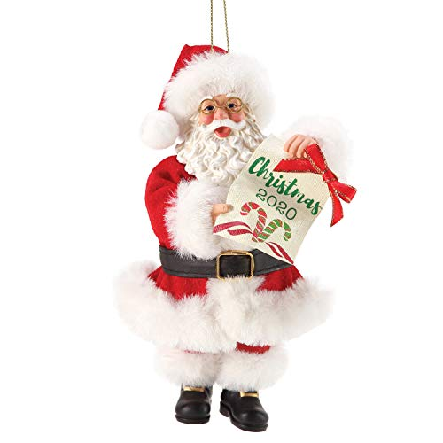 Department 56 Possible Dreams Santa Christmas 2020 Dated Hanging Ornament, 6 Inch, Multicolor