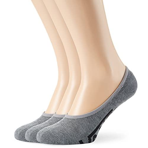 Vans_Apparel Klassik Super-No Show Socken Mann, Grau (Heather Grey), Satz 3, EU: 38,5-42