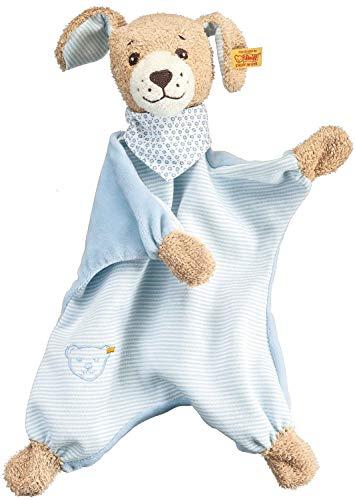 Steiff 239694 Gute-Nacht-Hund Schmusetuch Plüschtier, Mehrfarbig