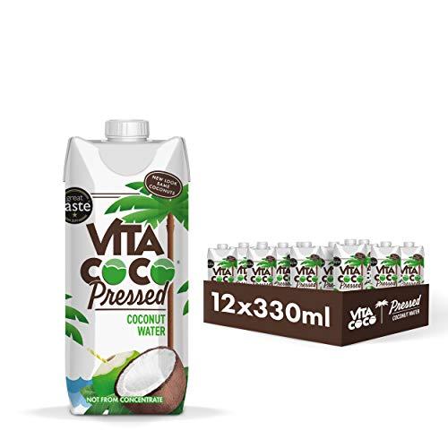 Vita Coco - Agua De Coco Prensada (330ml x 12) - Hidratante Natural - Repleto de Electrolitos - Sin Gluten - Lleno de Vitamina C y Potasio