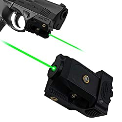 small size Lasercross Green Laser, Green Dot Pistol Laser Sight Tactical Sight Adjustable thin Picatinny rails and pistols and rechargeable batteries for pistols