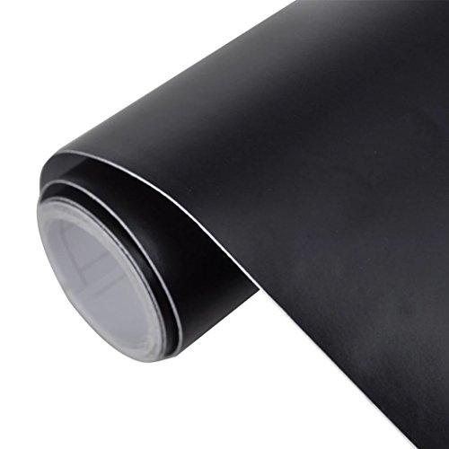 UnfadeMemory Pegatina Coche,Película Pegatina de Decoración,Vinilo de Exterior o Interior para Coche,Auto-Adhesiva,Impermeable Burbuja Libre,PVC (200x152Cm, Mate Negro)