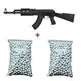 CYMA Pack Cadeau Airsoft Fusil d'assaut AK47 RIS AEG Noir 6mm 0.5 Joule 2 Sachet de 600 Billes Offert ! - CM022A